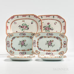 Three Pairs of Export Porcelain Platters