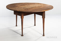 Queen Anne Tiger Maple Drop-leaf Dining Table