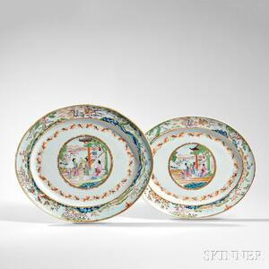 Two Large Famille Rose Platters