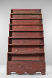 """Red-painted """"Harvard"""" Stacking Bookcase"""