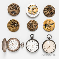 Nine Swiss and European Watches and Watch Movements