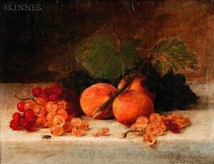 Helen Searle (American, 1830-1884)    Still Life with Fruit