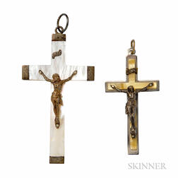 Two Vintage Crucifixes