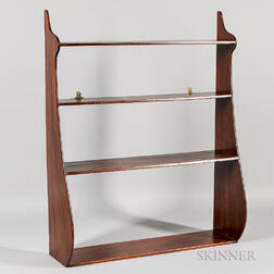 Mahogany Dovetailed Whale-end Shelf