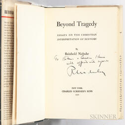 Niebuhr, Reinhold (1892-1971) Beyond Tragedy  , Signed Copy.