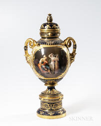 Fischer & Mieg Porcelain Covered Urn