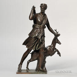 Barbedienne Bronze Figure of Diana the Huntress