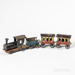 Painted Tin Toy Train