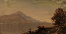 Alfred Thompson Bricher (American, 1837-1908)      Hudson River View, Possibly West Point