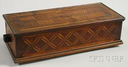 Tramp Art Parquetry-decorated Cribbage Game Box