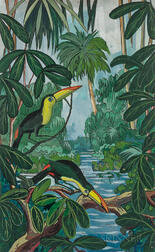Jane Peterson (American, 1876-1965)      Toucans in the Jungle