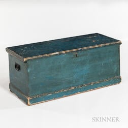 Blue-painted Blanket Chest