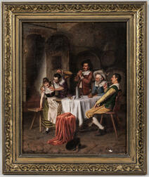 Alois Binder (German, 19th Century)      Cavaliers Carousing in a Tavern