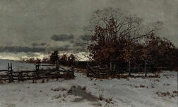 William Starbuck Macy (American, 1853-1945)      Gate, Early Winter