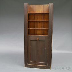 Shaker Pine Built-in Dumb-waiter/Cupboard