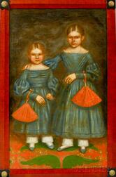 Framed Double Portrait of Maria and Mary Jane Smith