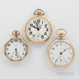 Two Waltham 14kt Gold Watches and Another