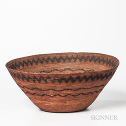 California Coiled Basketry Bowl