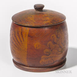 Turned and Vinegar Putty-painted Covered Jar
