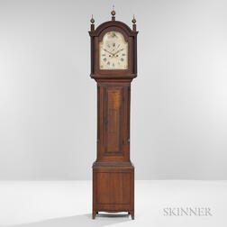 Cherry Inlaid Tall Case Clock