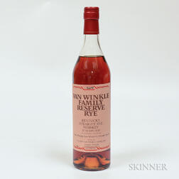 Van Winkle Family Reserve Rye 13 Years Old, 1 70cl bottle