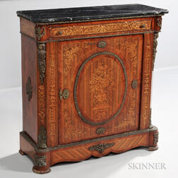 Continental Marble-top Marquetry Commode