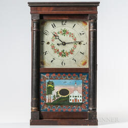 Norris North Stenciled Column Shelf Clock