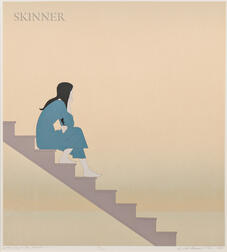 Will Barnet (American, 1911-2012)      Stairway to the Sea