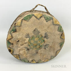 American Indian-style Hide Painted Drum
