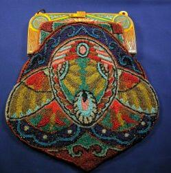 Art Deco Egyptian Revival Bakelite Beaded Bag