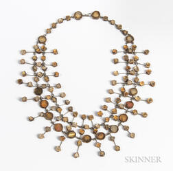 Line Vautrin (1913-1997) Resin Mirror Necklace