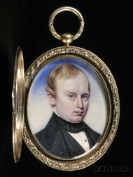 Moses B. Russell (Boston, 1809-1884)      Portrait Miniature of a Gentleman.