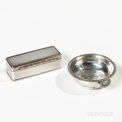 Georgian Silver Snuffbox and Wine Strainer