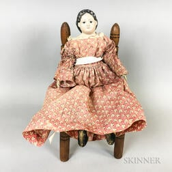 Greiner's Patent Head Composite Doll and Chair
