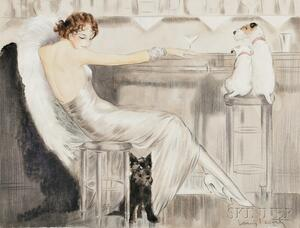 Attributed to Louis Icart (French, 1888-1950)      Study for/after Martini, Cocktail