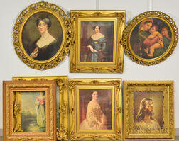 Seven Carved and Gold-painted Frames.     Estimate $150-200