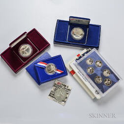Five Commemorative Coins and Three Mint Sets