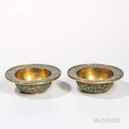 Pair of Gilt Cloisonne Bowls