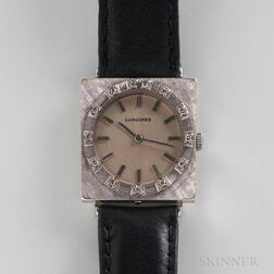 Longines 18kt White Gold Manual-wind Wristwatch