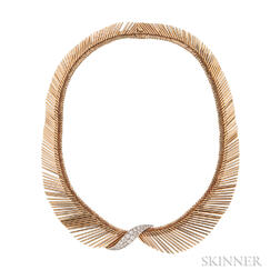 """18kt Gold and Diamond """"Angel Hair"""" Necklace, Van Cleef & Arpels"""
