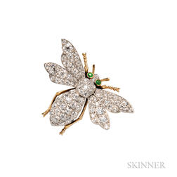 Edwardian Diamond Insect Brooch, Shreve & Co.