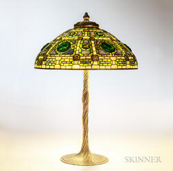 Tiffany Zodiac Turtleback Table Lamp