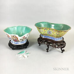 Two Chinese Bowls on Stands