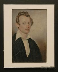 Moses B. Russell (American, 1809-1884)      Portrait Miniature of a Dr. S. Graham of Boston, Massachusetts.