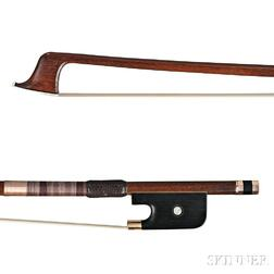 French Gold-mounted Cello Bow, Francois Peccatte