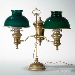 Brass Double-arm Student's Lamp