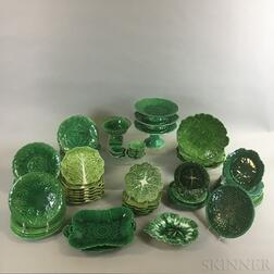 Approximately Sixty-seven Majolica Ceramic Leaf Dishes
