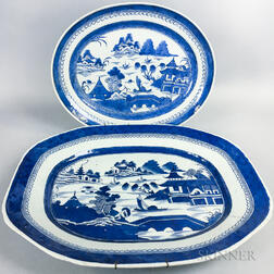 Two Canton Porcelain Platters