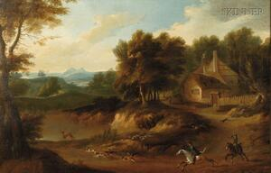 Continental School, 18th Century Style      Hunt Scene