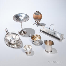 Seven Pieces of American Sterling Silver Tableware